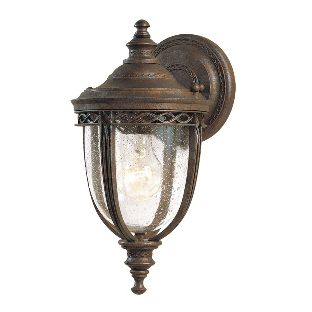 English Bridle Small Outdoor Wall Lantern In A Bronze